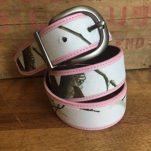 Pink Camo RealTree Belt small/medium camouflage